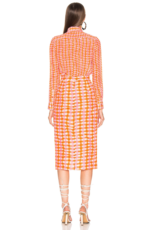Image 5 of Altuzarra Constantina Plaid Dress in Tropicana