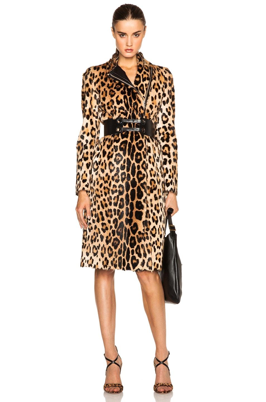 Image 1 of Altuzarra Sanderson Fur Coat in Leopard Print