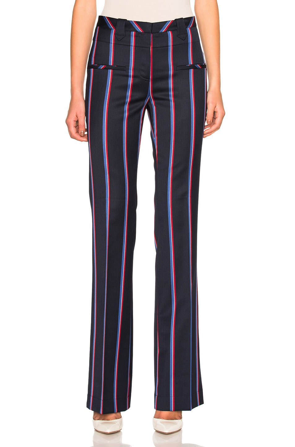 Image 1 of Altuzarra Serge Trousers in Navy & Tango