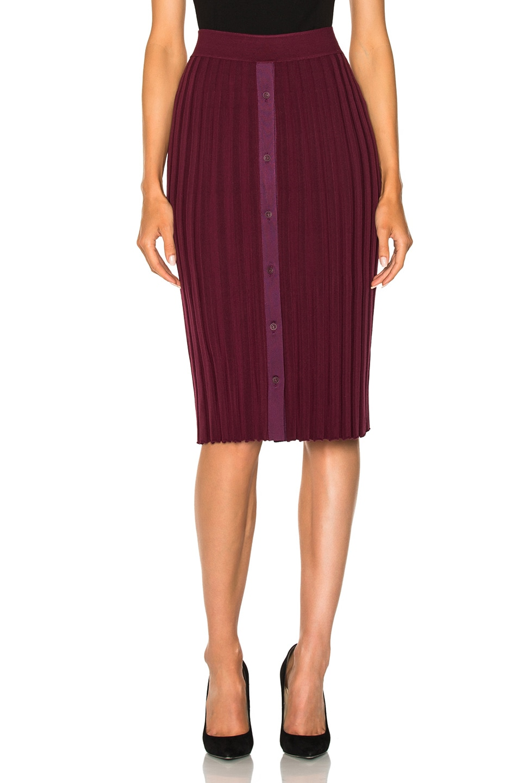 Image 1 of Altuzarra Burnet Knit Skirt in Port