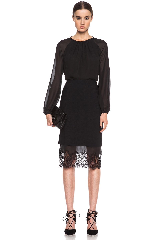 Image 5 of Altuzarra Kepi Viscose-Blend Skirt in Black