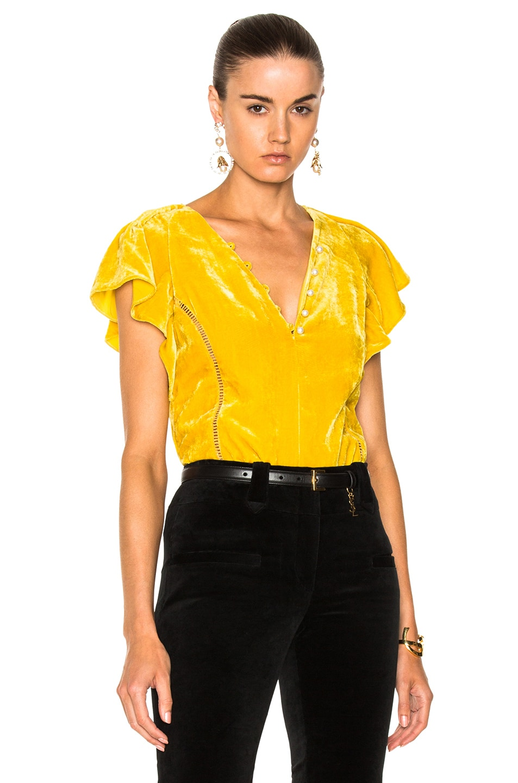 Altuzarra Nicolle Blouse in Yellow