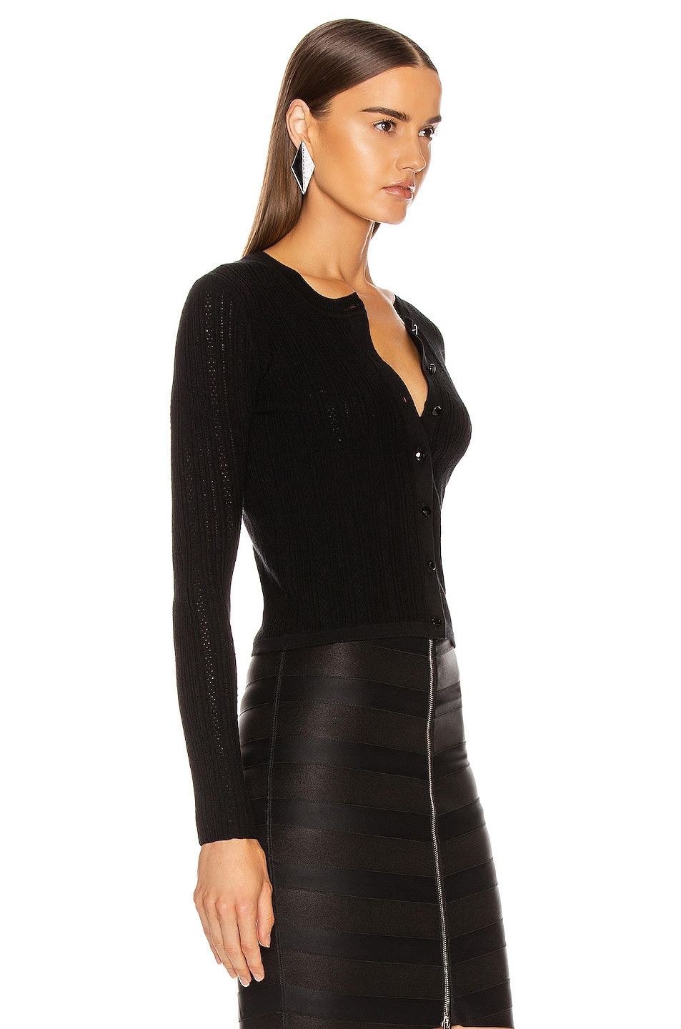 Image 3 of Altuzarra Cygnet Knit Top in Black