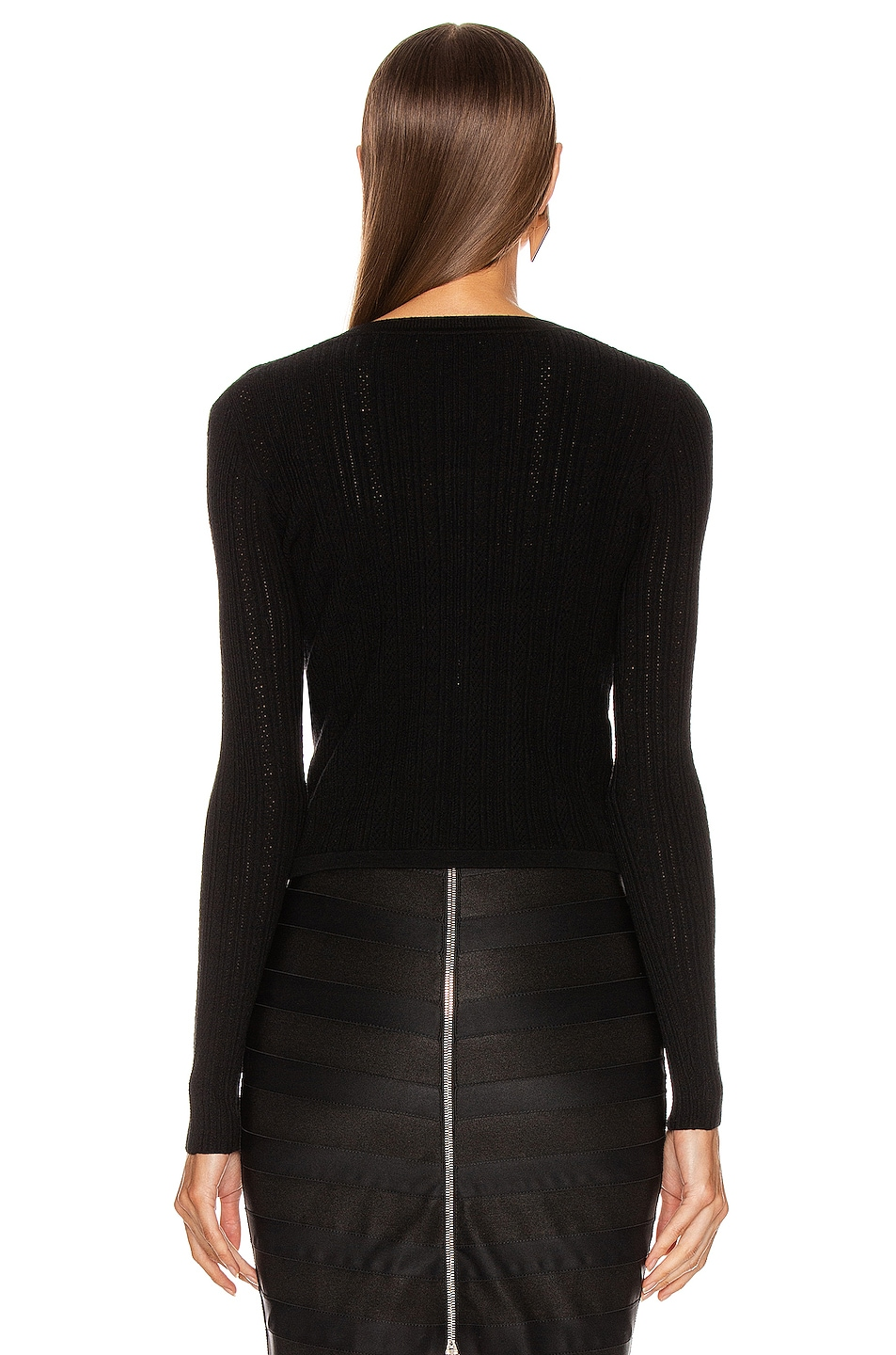 Image 4 of Altuzarra Cygnet Knit Top in Black