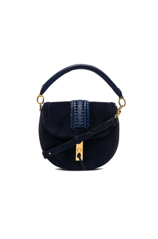 d0346997f695 Image 1 of Altuzarra Ghianda Top Handle Saddle Bag in Navy