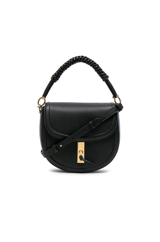 Image 1 of Altuzarra Ghianda Braided Top Handle Medium Saddle Bag in Black