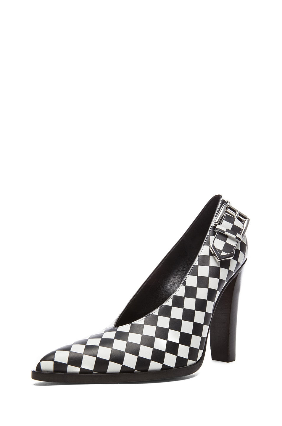 Image 2 of Altuzarra Leather Heels in Check