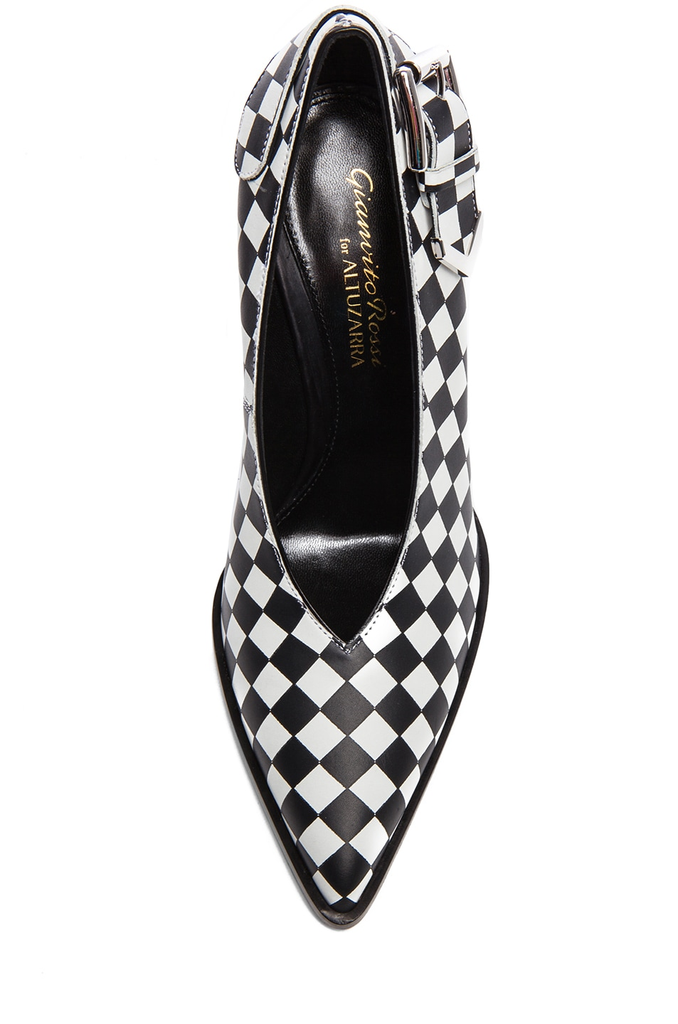 Image 4 of Altuzarra Leather Heels in Check