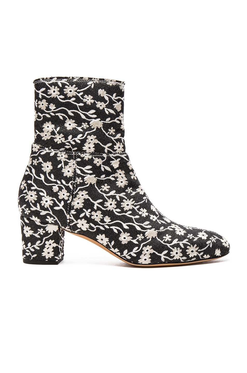 Image 1 of Altuzarra Callie Ankle Booties in Black & Natural White