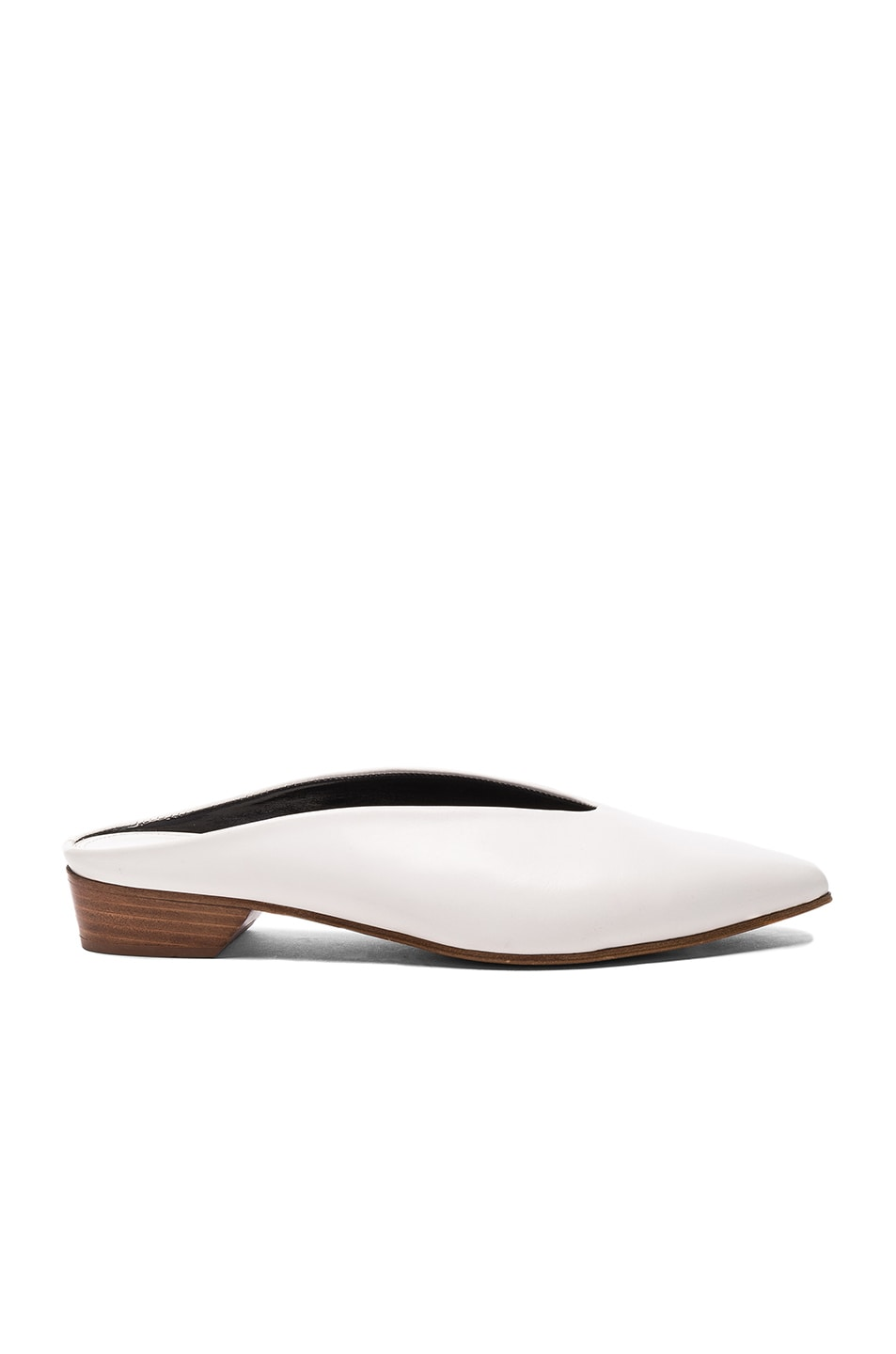 Image 1 of ALUMNAE Pointy Almond Mule in Bianco