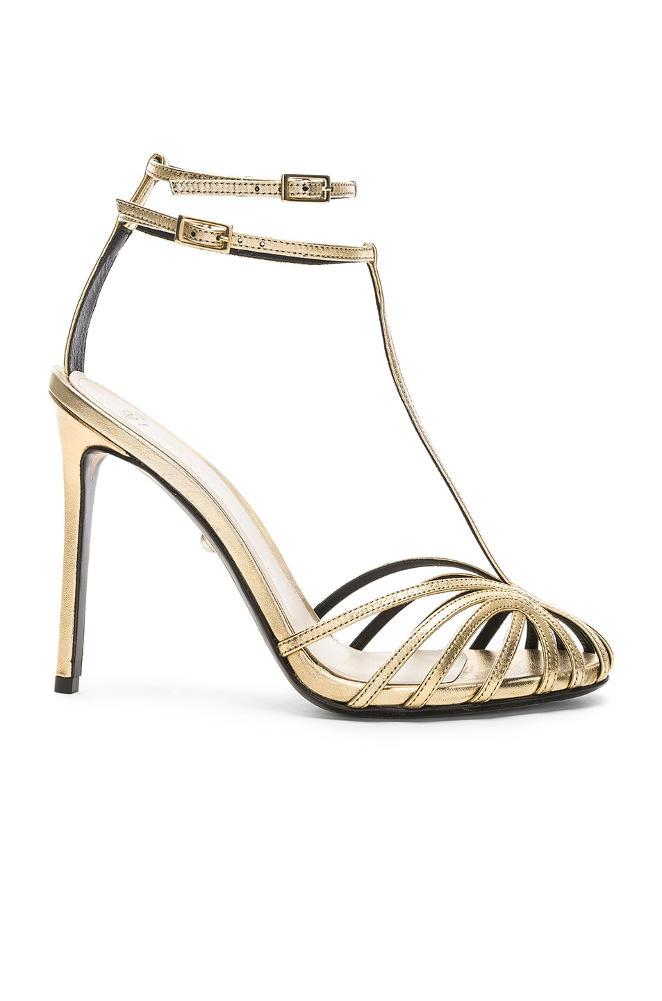 Image 1 of ALEVI Milano Alevi Stella Sandal in Shine Light Gold