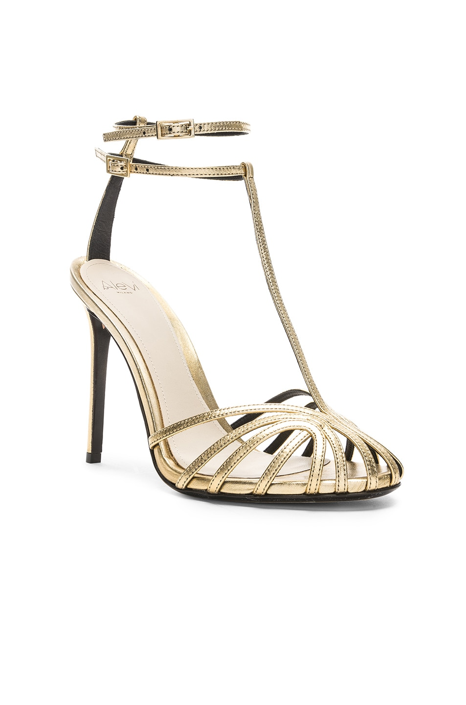 Image 2 of ALEVI Milano Alevi Stella Sandal in Shine Light Gold