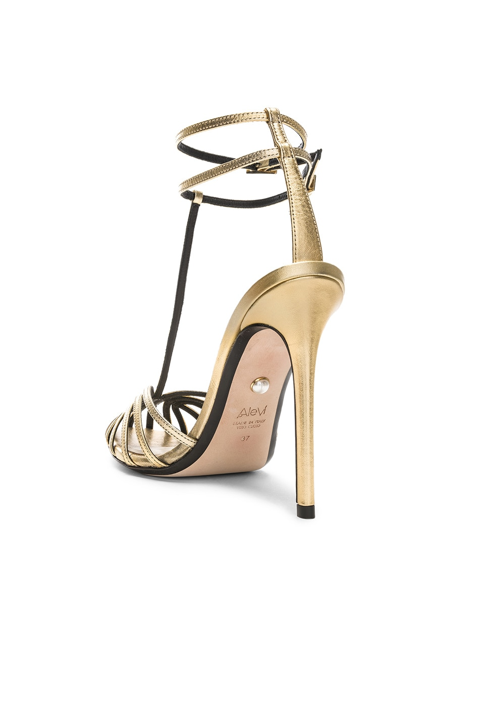 Image 3 of ALEVI Milano Alevi Stella Sandal in Shine Light Gold