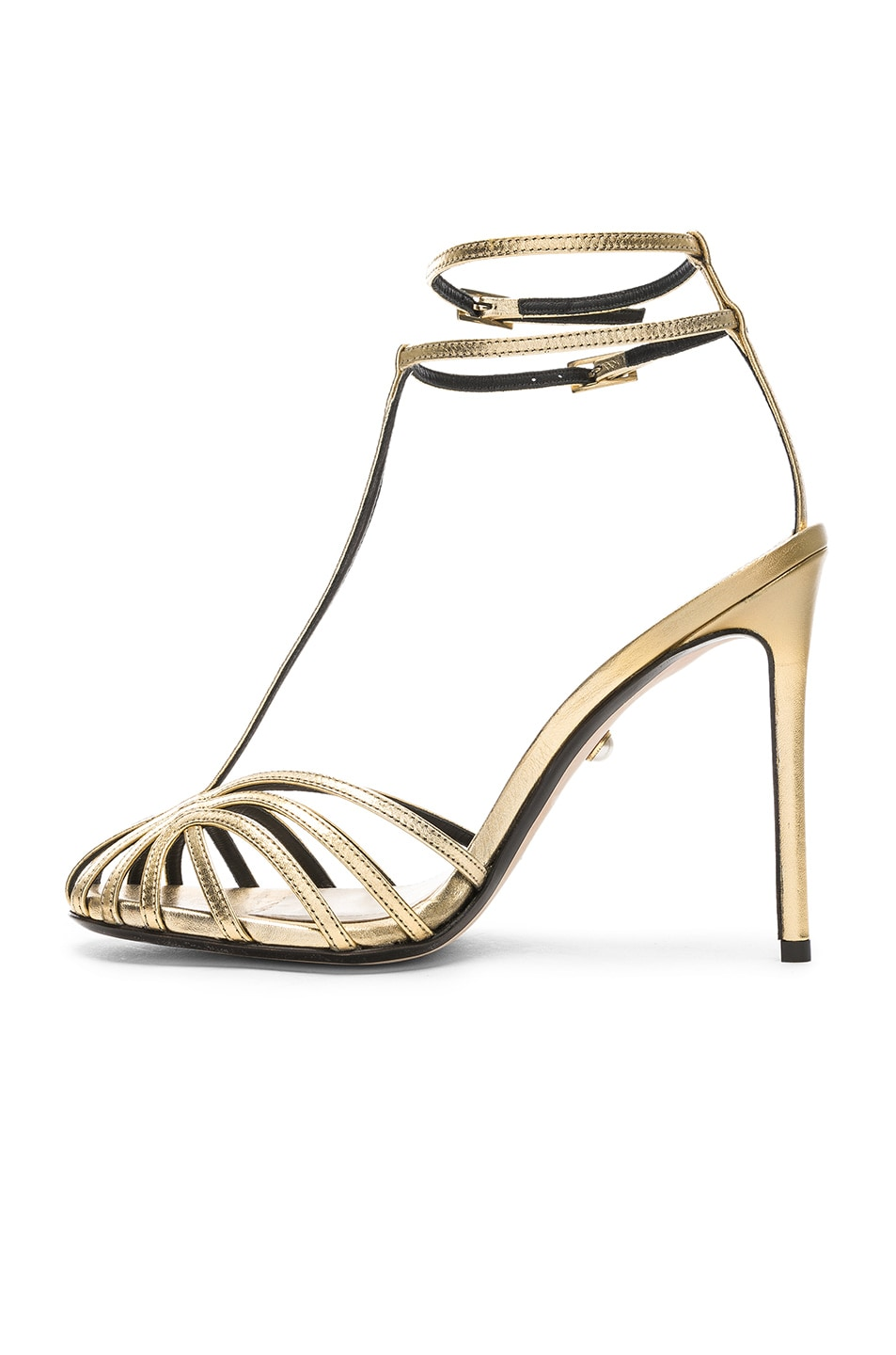 Image 5 of ALEVI Milano Alevi Stella Sandal in Shine Light Gold