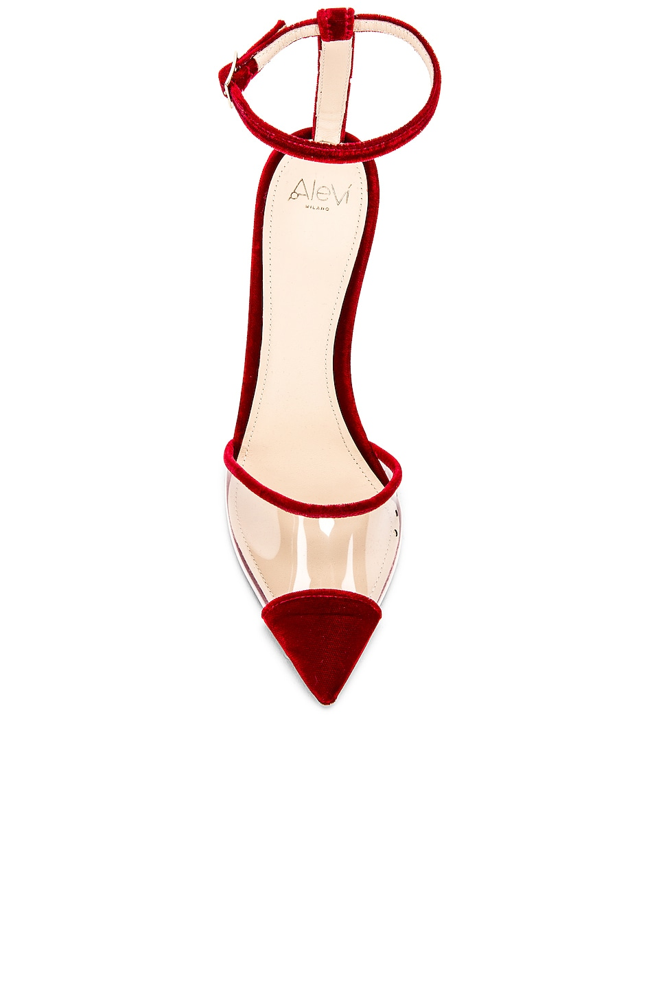 Image 4 of ALEVI Milano Alevi Bianca Heel in Velvet Red