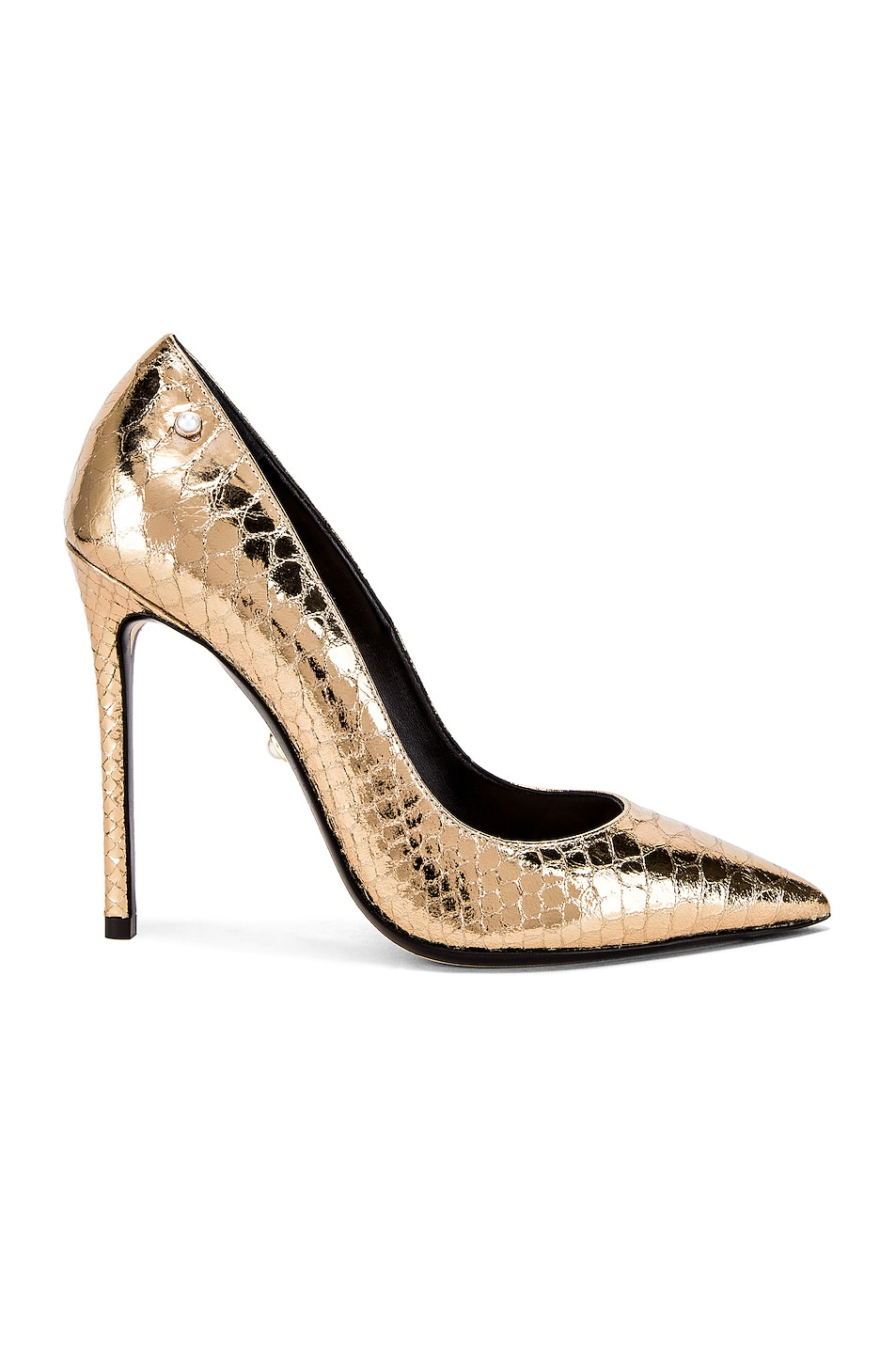 Image 1 of ALEVI Milano Alevi Carrie Pump in Gold Snake