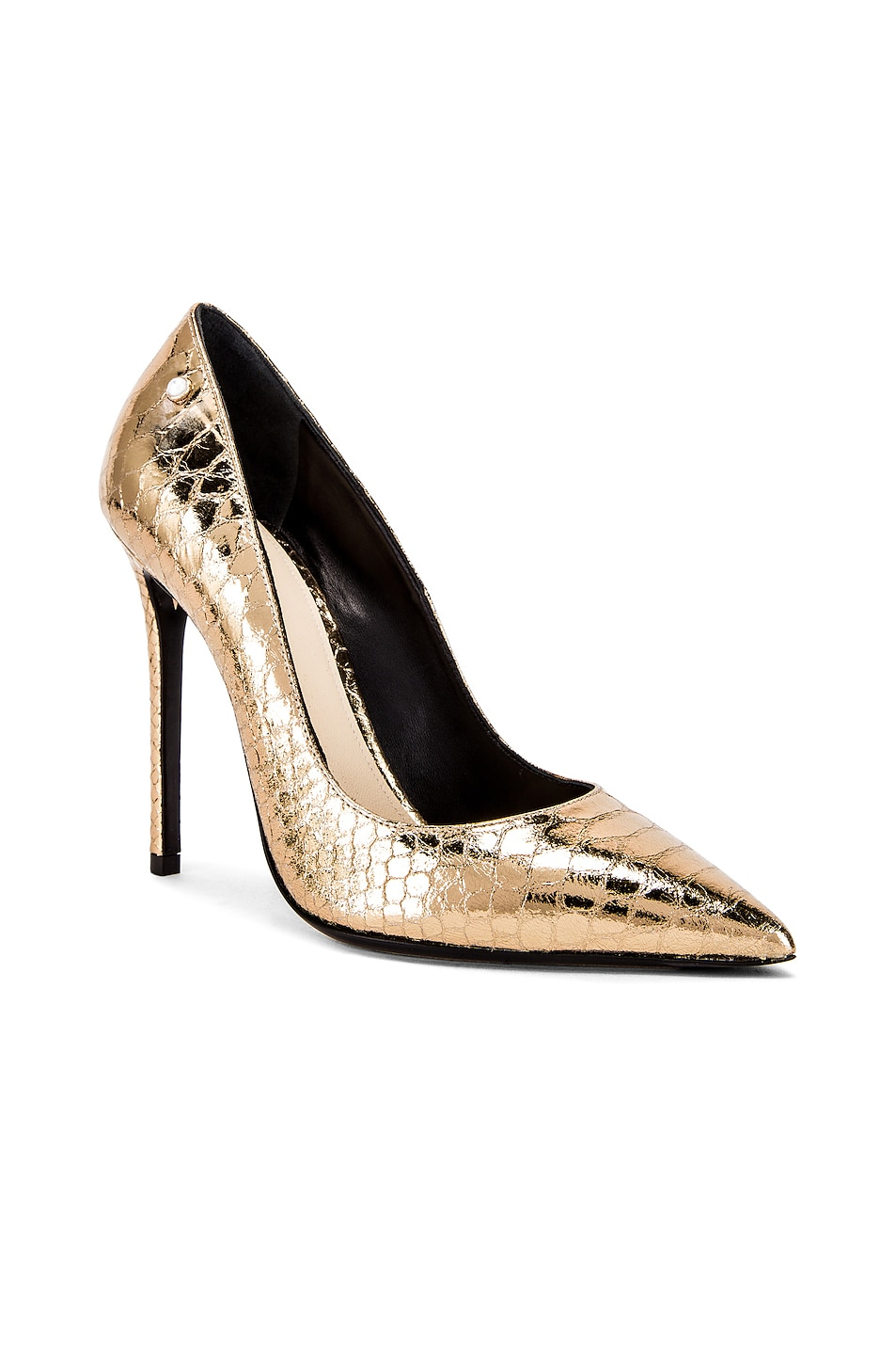 Image 2 of ALEVI Milano Alevi Carrie Pump in Gold Snake