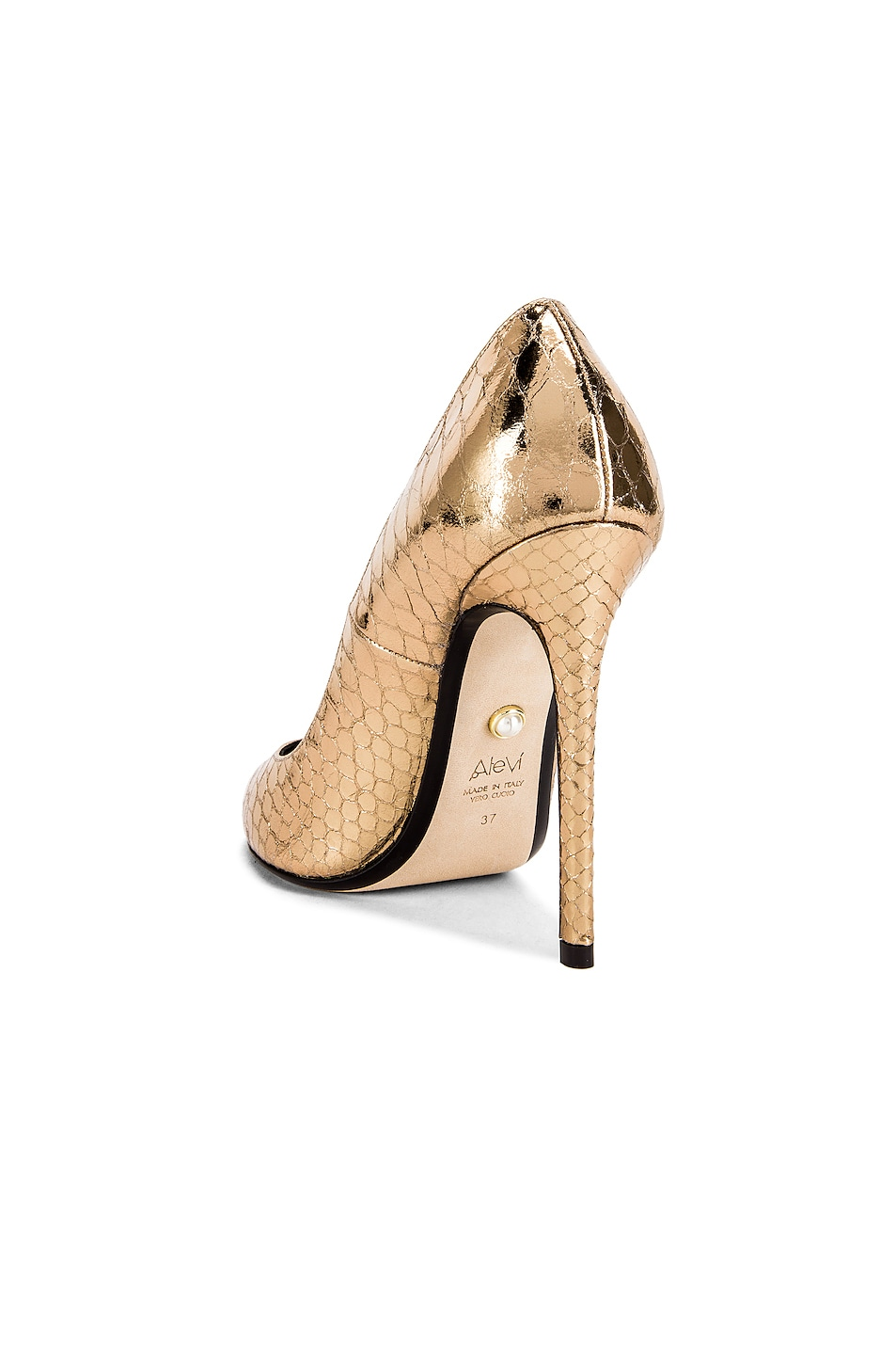 Image 3 of ALEVI Milano Alevi Carrie Pump in Gold Snake