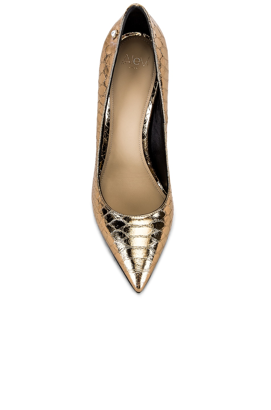 Image 4 of ALEVI Milano Alevi Carrie Pump in Gold Snake
