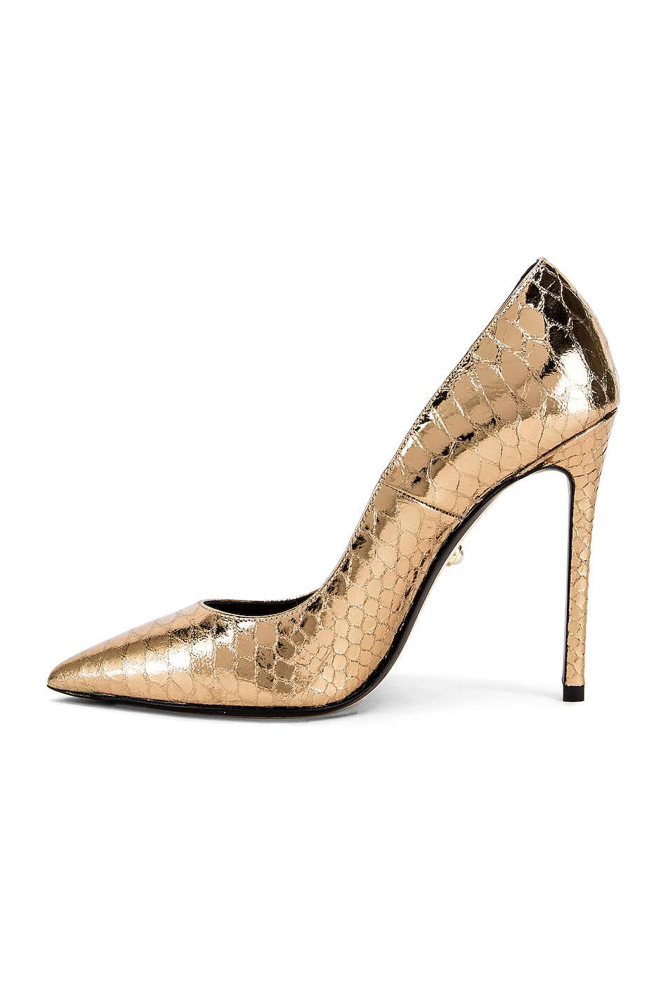 Image 5 of ALEVI Milano Alevi Carrie Pump in Gold Snake
