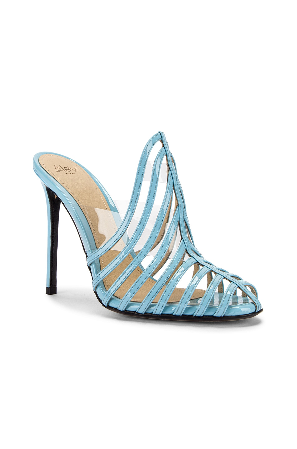 Image 2 of ALEVI Milano Alessandra Mule in Patent Sky