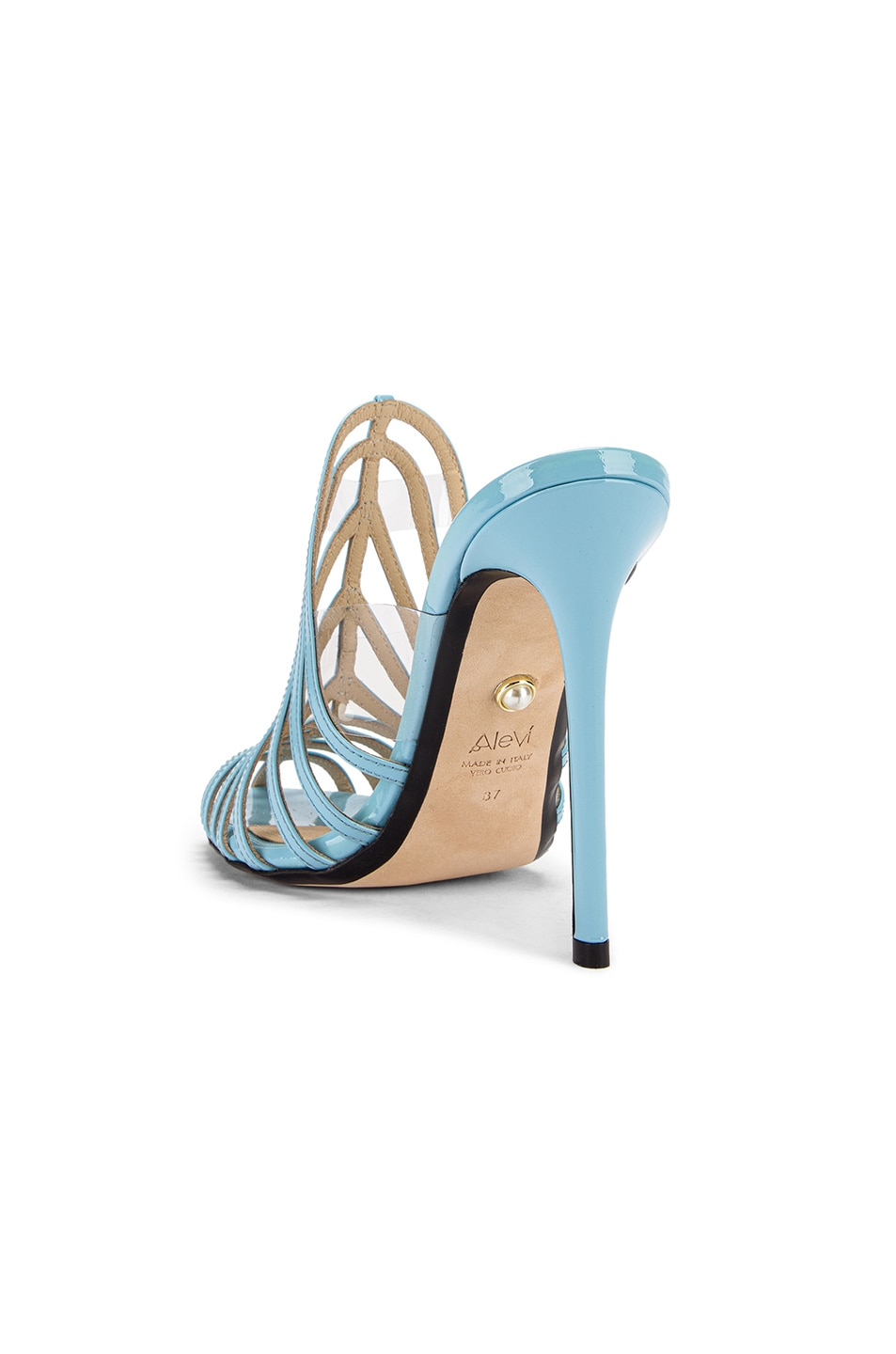 Image 3 of ALEVI Milano Alessandra Mule in Patent Sky