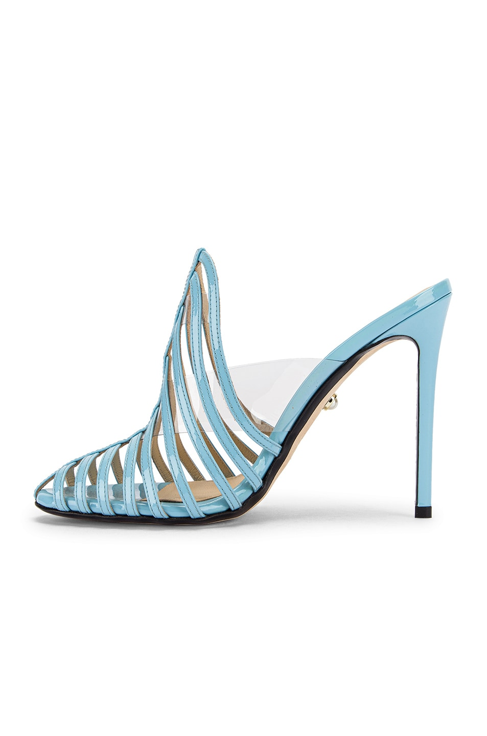 Image 5 of ALEVI Milano Alessandra Mule in Patent Sky