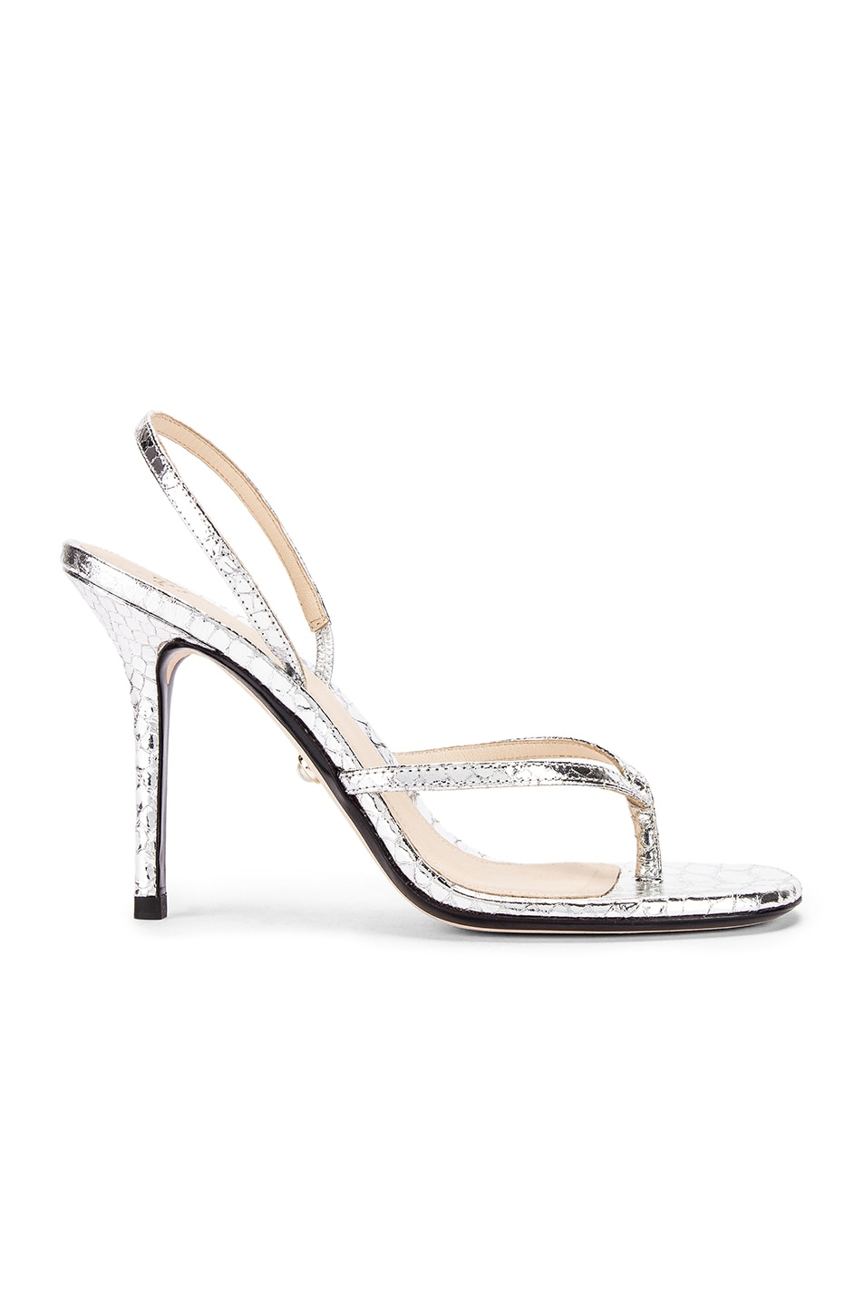 Image 1 of ALEVI Milano Ivy Sandal in Snake Silver