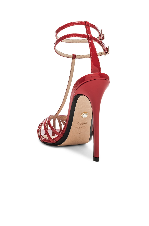 Image 3 of ALEVI Milano Alevi Stella Sandal in Patent Red