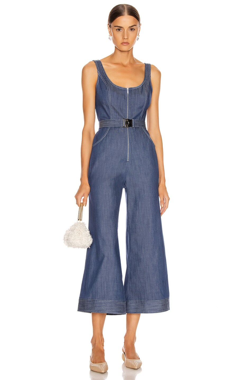 Image 1 of Alexis Bristol Jumpsuit in Stone Blue