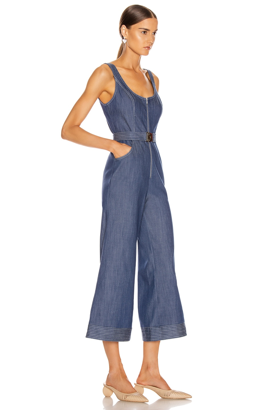 Image 2 of Alexis Bristol Jumpsuit in Stone Blue