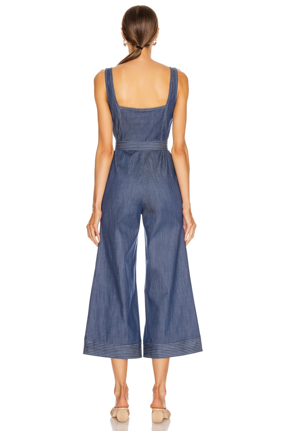 Image 3 of Alexis Bristol Jumpsuit in Stone Blue