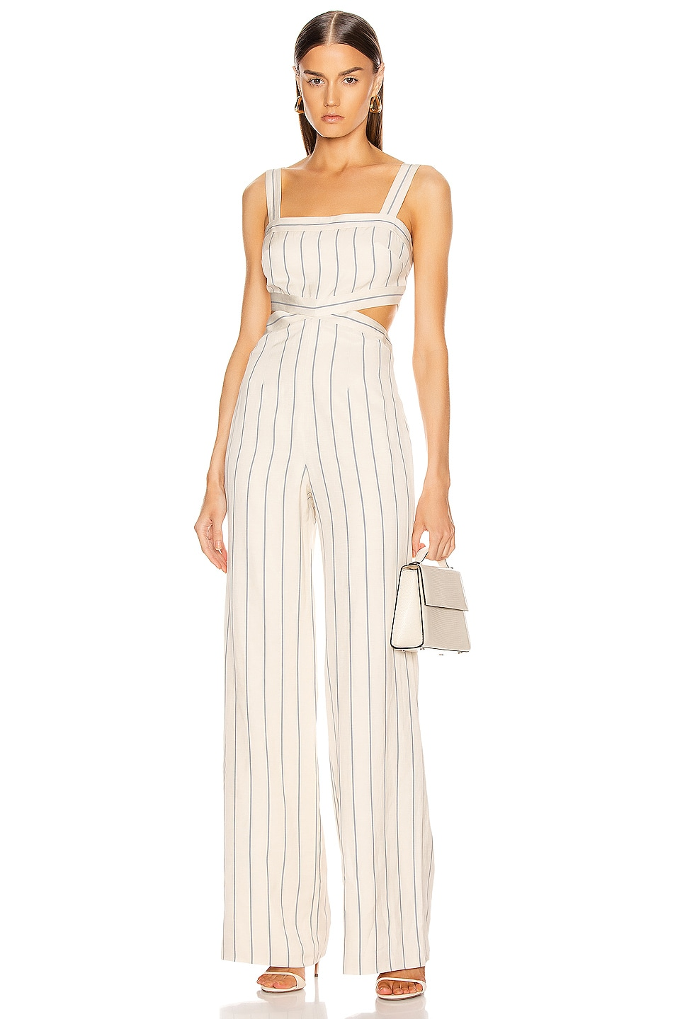 Image 1 of Alexis Lipton Jumpsuit in Blue Stripes