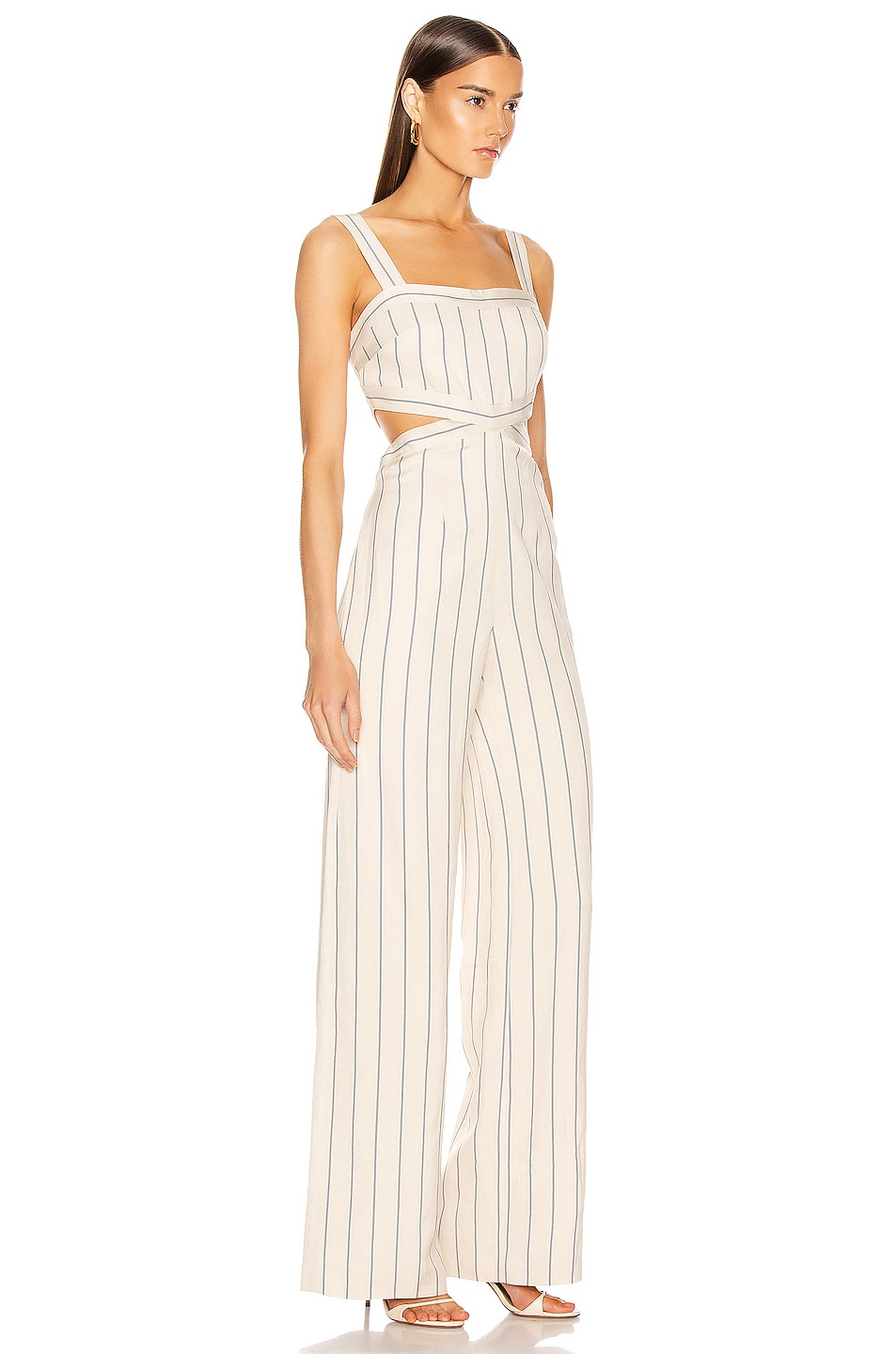 Image 2 of Alexis Lipton Jumpsuit in Blue Stripes