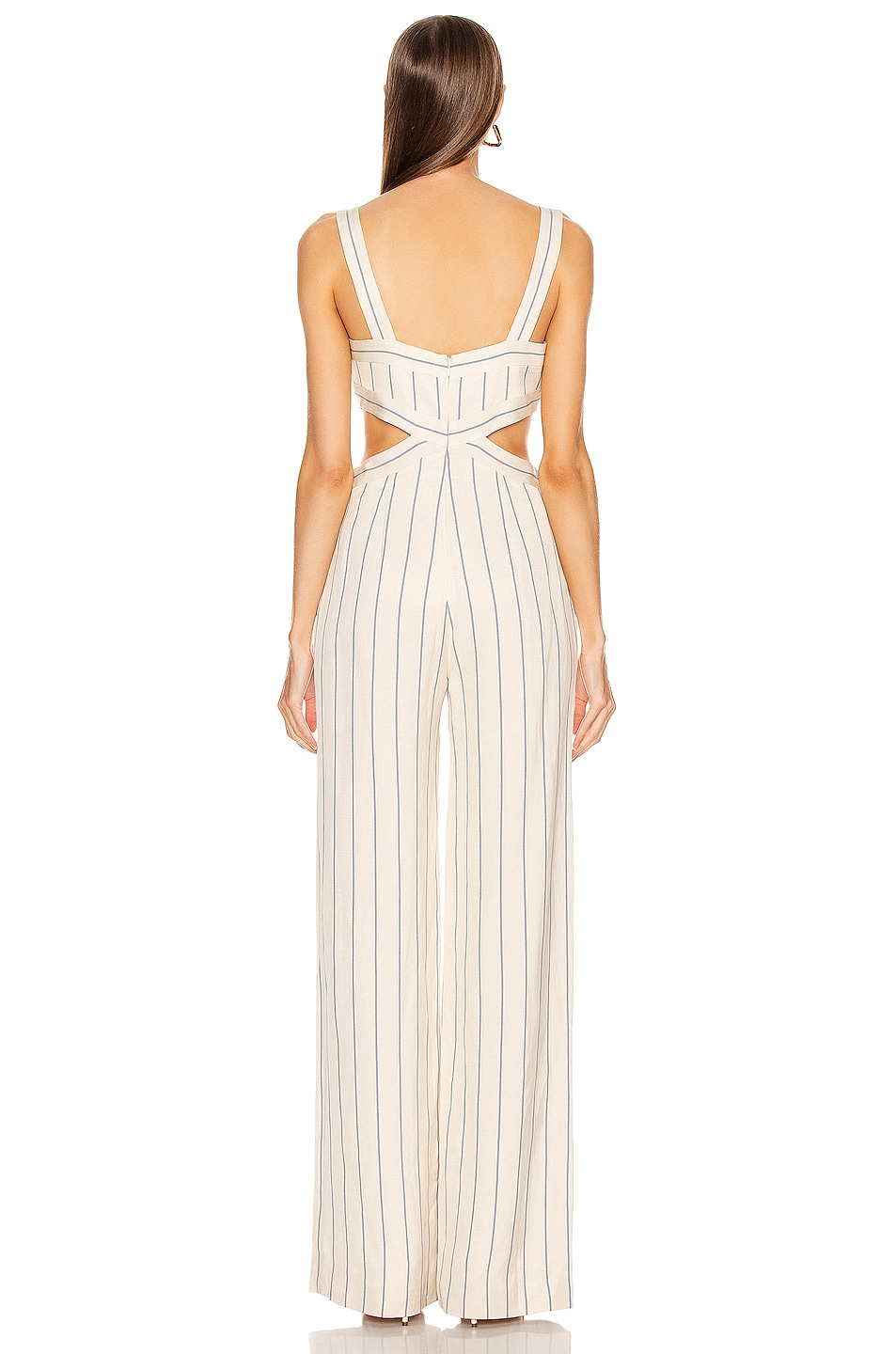 Image 3 of Alexis Lipton Jumpsuit in Blue Stripes