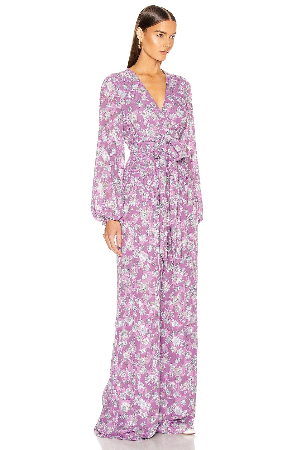 Image 2 of Alexis Shanice Jumpsuit in Lilac Floral