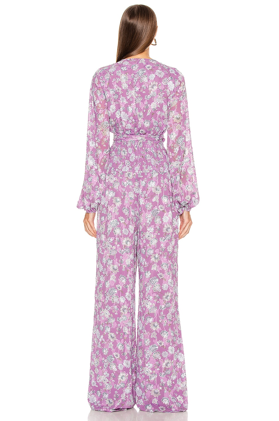 Image 3 of Alexis Shanice Jumpsuit in Lilac Floral