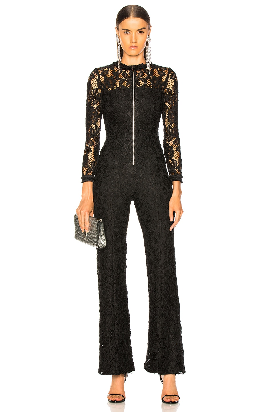 Image 1 of Alexis Emaya Jumpsuit in Black Lace