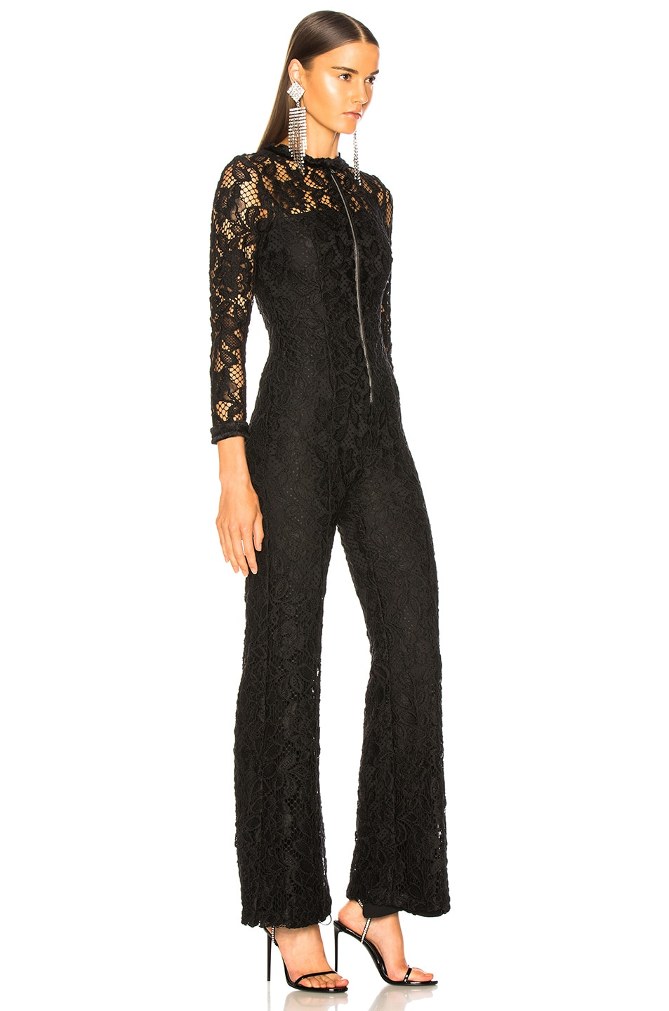 Image 2 of Alexis Emaya Jumpsuit in Black Lace