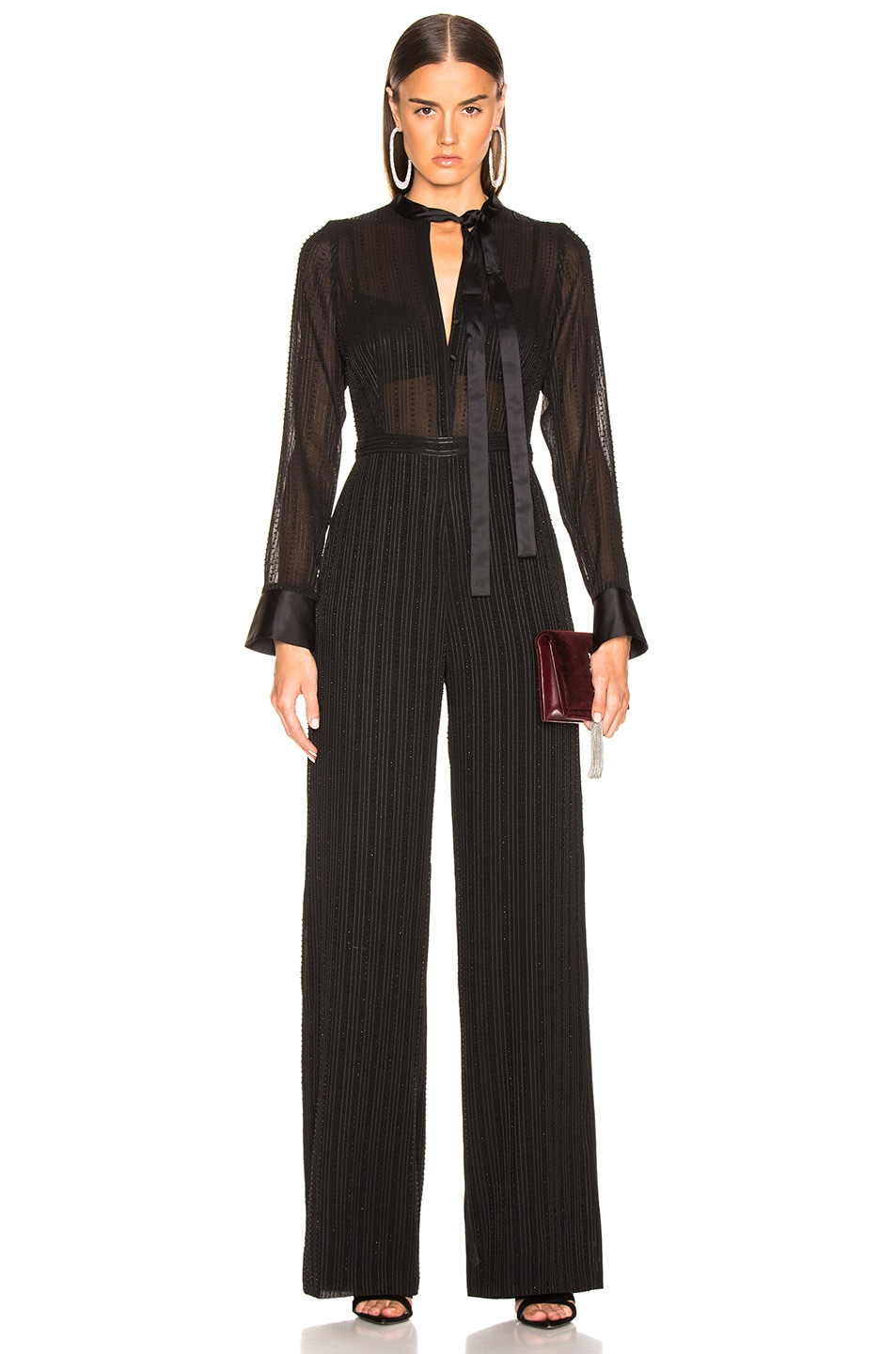 Image 1 of Alexis Harvelle Jumpsuit in Beaded Black