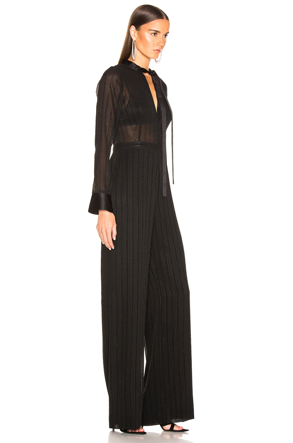 Image 2 of Alexis Harvelle Jumpsuit in Beaded Black