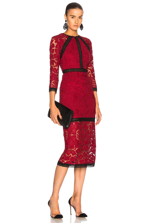 f9abd26c1b6 Image 1 of Alexis Randie Dress in Dark Red Lace