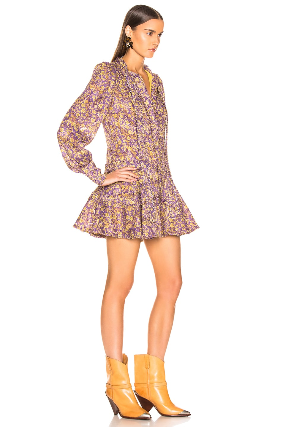 Image 2 of Alexis Monika Dress in Purple Floral