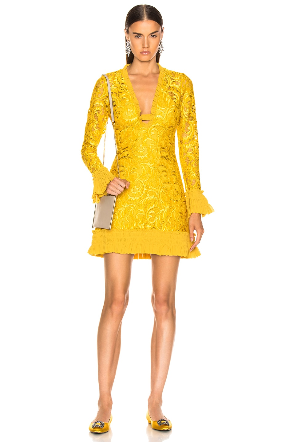 Image 1 of Alexis Nuray Dress in Gold Lace