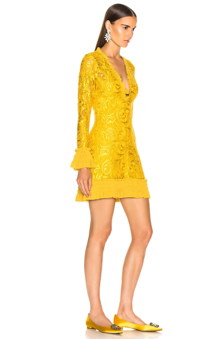 Image 3 of Alexis Nuray Dress in Gold Lace