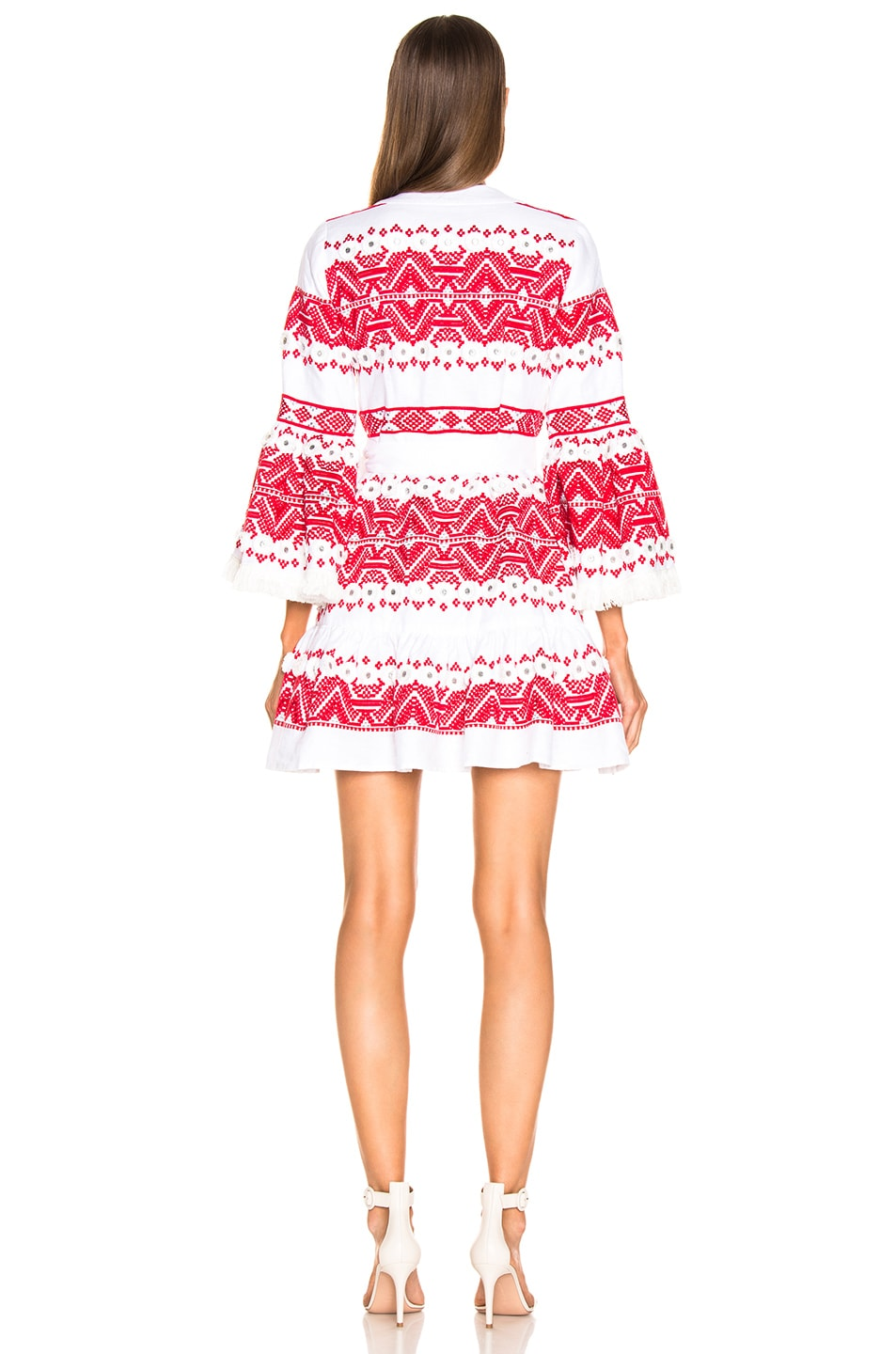 Image 4 of Alexis Cheryl Dress in Rich Embroidery Red