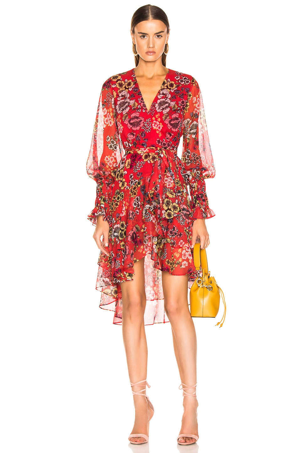 73d527818d8e8f Image 1 of Alexis Sidony Dress in Eden Floral Red