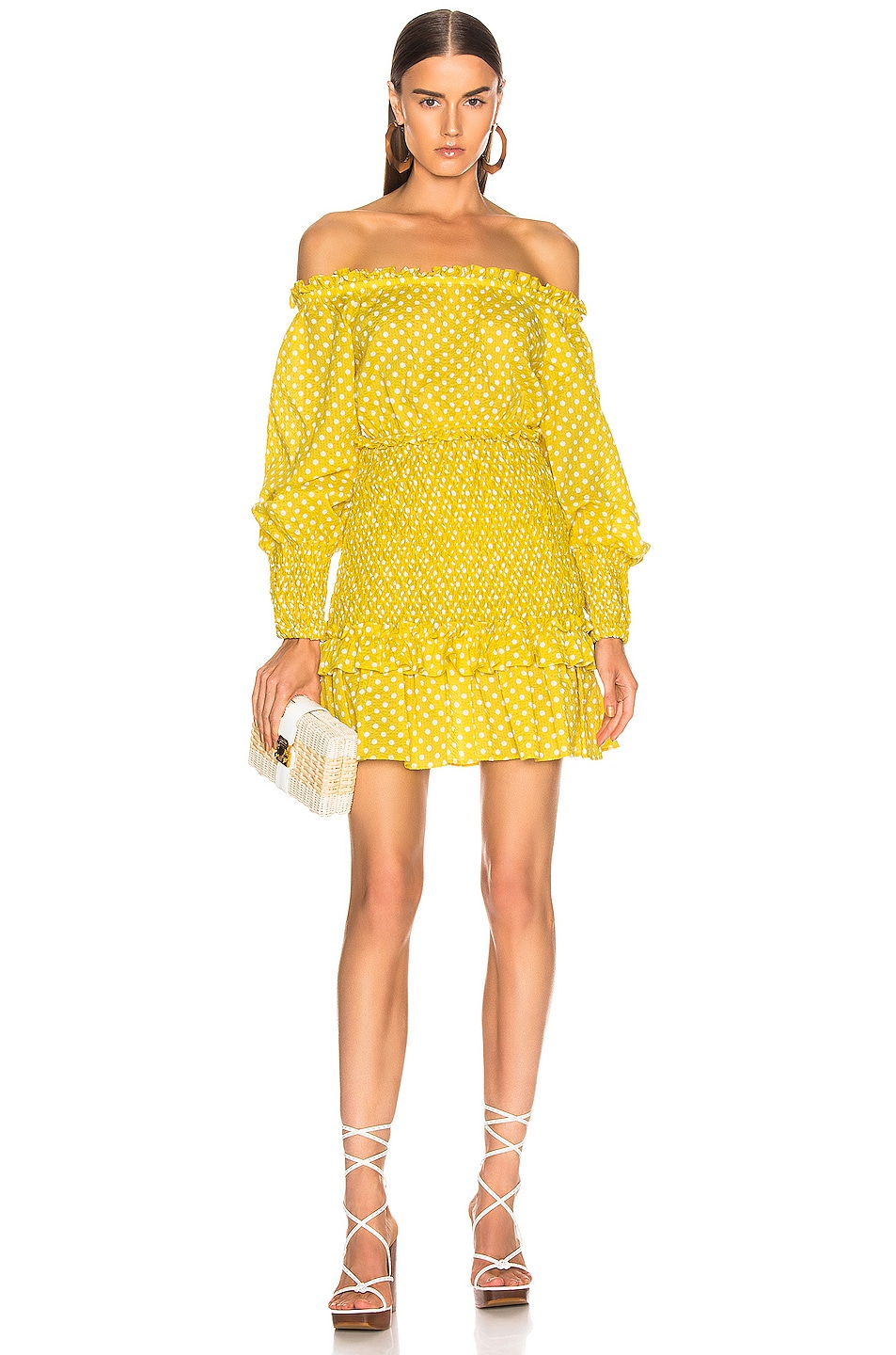 Image 1 of Alexis Marilena Dress in Yellow Dot