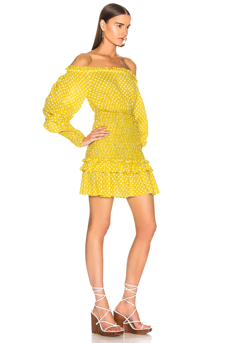 Image 2 of Alexis Marilena Dress in Yellow Dot
