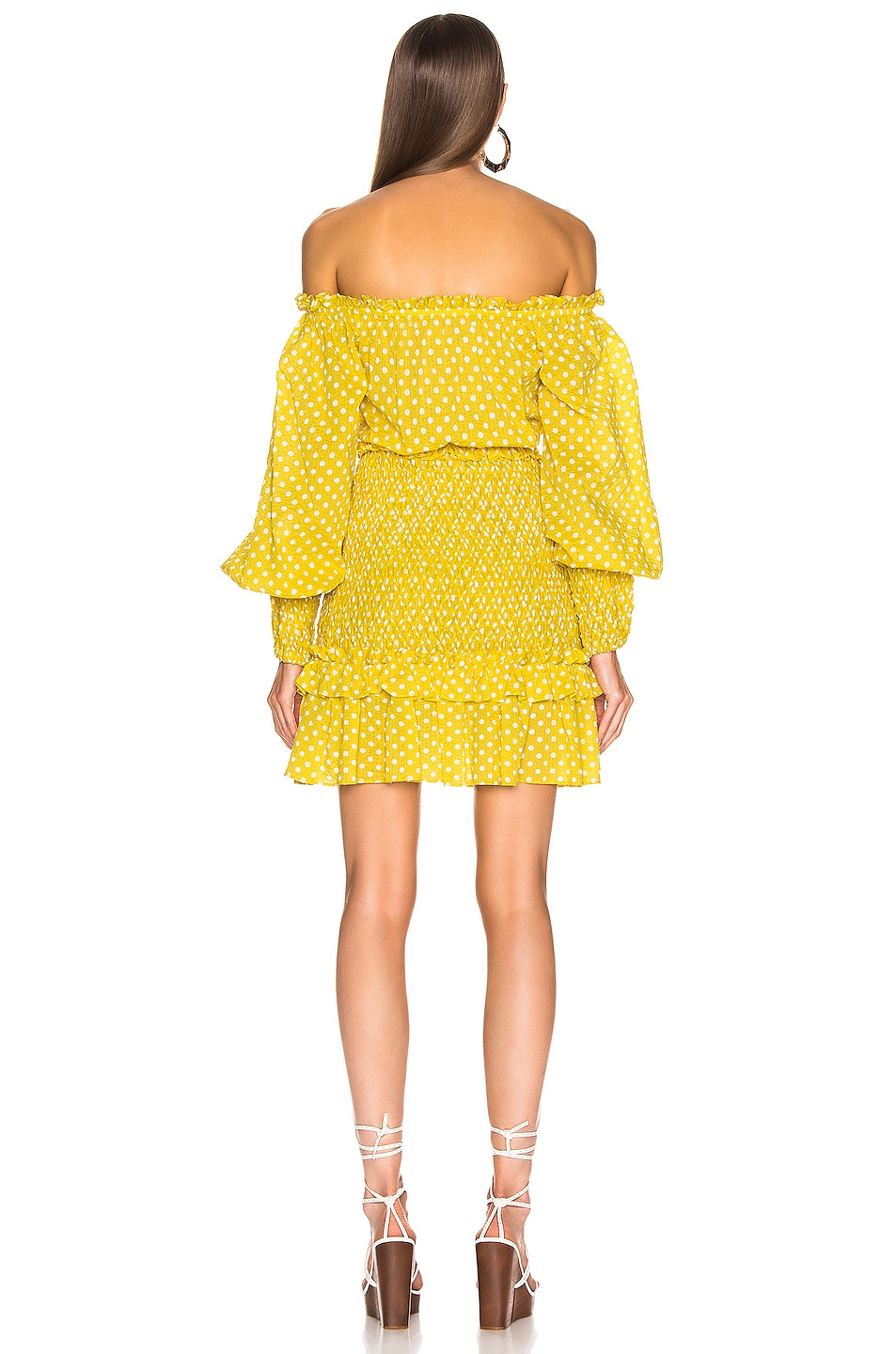 Image 3 of Alexis Marilena Dress in Yellow Dot